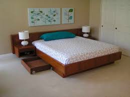Platform bed with floating nightstands Queen Bedroomfloating Platform Beds With Pillow Blue The Simplicity And Elegance Of The Floating Platform Beds Pinterest Bedroomfloating Platform Beds With Pillow Blue The Simplicity And