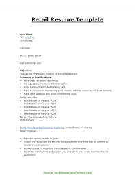 Resume Format For Retail Job Resume Template For Retail Job Special How To Make Resume For Retail 2