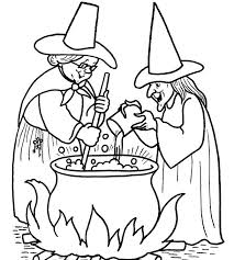 Small Picture Halloween Witch Coloring Pages Printable Free Hallowen Coloring