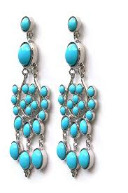 chelsea girl turquoise chandelier earring steve sasco design