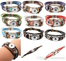 best quality whole 2016 newest design snap jewelry whole ons snap noosa chunks leather bracelets for women at charm