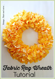 vintage paint and more a spring wreath made from strips of torn