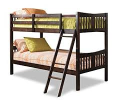 storkcraft caribou solid hardwood twin bunk bed espresso twin bunk beds for kids with ladder