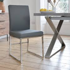 loop leg dining chair grey