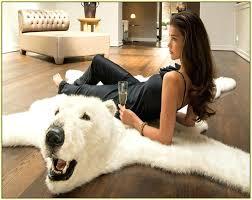 white faux bear rug full size of furniture beautiful fake bear skin rug with head dazzling white faux bear rug