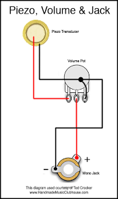 piezo wiring diagrams piezo diagram volume pot and jack