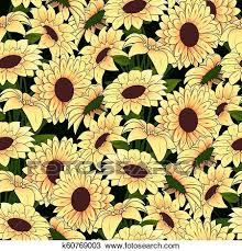 yellow flowers in a yellow vase pattern