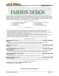 Fashion Designer Resume Samples