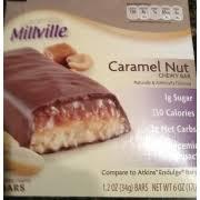 millville caramel nut chew bar nutrition