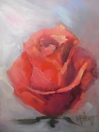 red rose study 6x8 original oil painting daily painting small oil painting