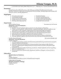 doctor resume example examples of medical resumes