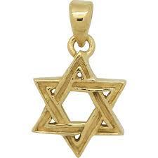lovely star of david pendant with a textured surface and entwined design gold plated over sterling silver perfect for all ages
