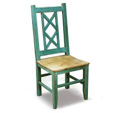 Bombay Cross Back Turquoise Side Chair
