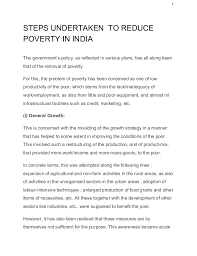 essays in poverty reduction ias mains ies rbi oters 1 steps undertaken to reduce poverty in the government s policy as reflected in various