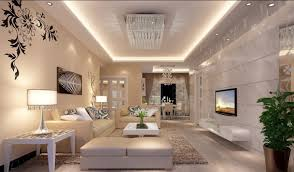 Living Room, Luxury Living Rooms With Tv And White Sofa And Lamp And Carpet  And