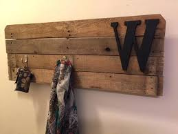 Easy Coat Rack Beauteous Easy Homemade Coat Rack Pallet Wood Coat Rack With Wooden W Letter