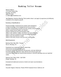 Objective For Banking Resume Resume Bank Teller Resume Objective 23