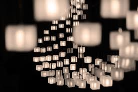 graypants mobius lamp mimics flocks of starlings with sparkling cubes strung from fiber optic cables inhabitat green design innovation architecture