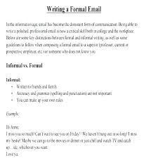 Formal Email Template