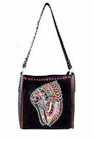 delila indian leather purse front cropped image