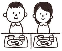 給食のイラスト男の子と女の子 ゆるかわいい無料イラスト素材集