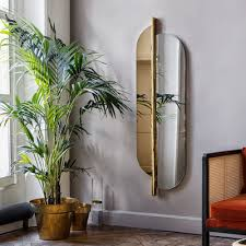 red edition totem wall mirror gold