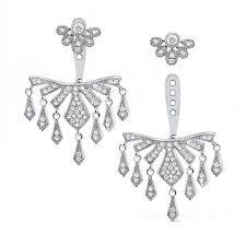 14k diamond chandelier earring jackets and studs
