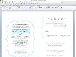 Luxury Invitation Template For Microsoft Word For Customize The