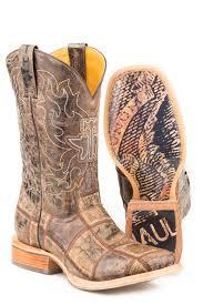 Tin Haul Mens Money Maker Bald Eagle Sole Cowboy Boots