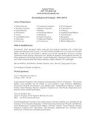 Immigration Paralegal Resume Cover Letter Litigation Resumes
