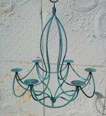 24 wrought iron tamara candle chandelier to enlarge