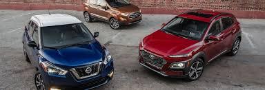 2018 ford ecosport se vs 2018 hyundai kona se vs 2018 nissan kicks sr little vehicles big world