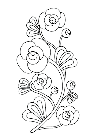 Spring Flowers Coloring Pictures Free Coloring Library Printable