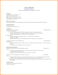 Relevant Coursework Resume Pleasant Listing Coursework On Resume In Relevant Coursework In A 14