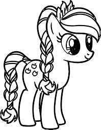 Small Picture Pony Cartoon My Little Pony Coloring Pages Wecoloringpage