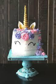 how to make a rainbow unicorn cake by familye