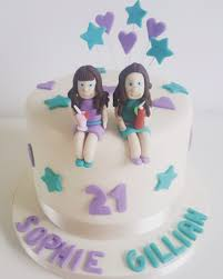 Twin Girls Birthday Cake Cakes By Siobhan Cakes By Siobhan
