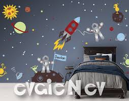 Sun Moon Stars Wall Decals Outer Space Wall Murals   Ind Outer ...