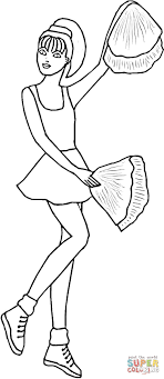 Cheerleading coloring page | Free Printable Coloring Pages