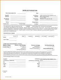 Work Authorization Form Work Authorization Form24png LetterHead Template Sample 1