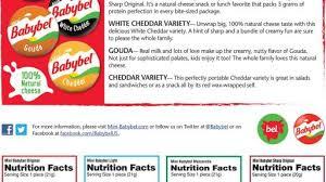 mini babybel nutrition information