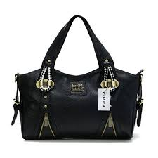 Coach In Embossed Medium Black Totes DFX  Coach0A2146  -  65.00