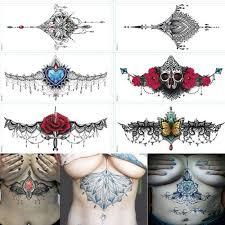 Sexy Vodotěsný Hrudník Zpět Tetování Samolepka Dočasné Fake Tetování Decal Body Art At Vova