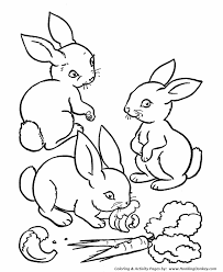 Small Picture Farm Animal Coloring Pages Printable rabbits eating carrots