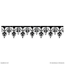 black and white wall border design and interiors painted wall border patterns custom stencils for black black and white wall border