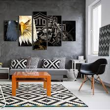eagle motorcycle hd panels canvas prints 5 pieces wall painting art home sports decor poster board for living room yh 075 in painting calligraphy from  on poster board wall art with eagle motorcycle hd panels canvas prints 5 pieces wall painting art