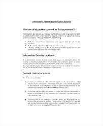 Standard Confidentiality Agreement Template – Ffshop Inspiration