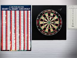 2 Dart Out Chart Lids 3 And 2 Dart Out Chart Poster 3ft X 2ft