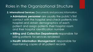 Organizational Structure Of The Hospital Ppt Video Online