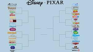 Disney Movie Chart This Disney Pixar Bracket Is Tearing The Internet Apart So